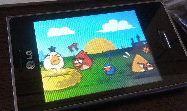 Angry Birds no LG Optimus L3