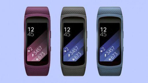 Imagens mostram Gear Fit 2 nas cores azul, preta e rosa