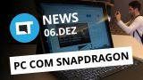 Notebooks com Snapdragon 835; Black Mirror ainda em 2017 e + [CT News]