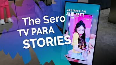 The Sero, a TV vertical da Samsung e o refrigerador modular Bespoke