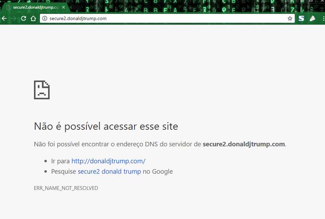 Site de arrecadação de fundos da campanha de Donald Trump acabou saindo do ar após ataque de grupo hacker iraquiano