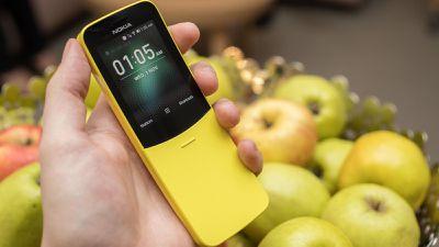 Nostálgico Nokia 8110 com 4G receberá o WhatsApp como app compatível