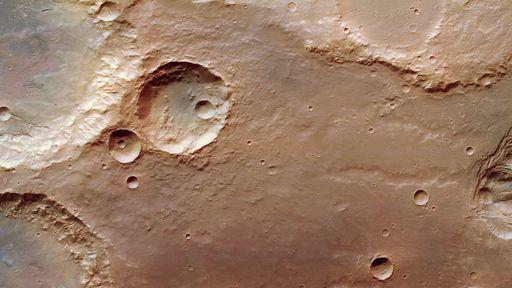 Missão Mars Express revela o terreno caótico e irregular na região Pyrrhae Regio