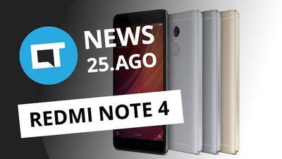 Novo Redmi Note 4, primeiros táxis autônomos do mundo, Galaxy Note 7 vs iPhone 6s e +