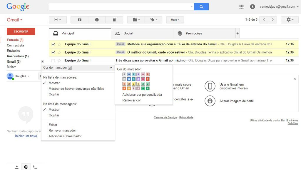 Como usar o Gmail