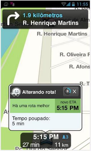 Waze - Nova rota