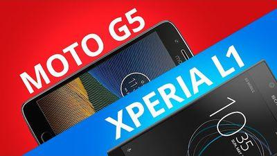 Motorola Moto G5 vs Sony Xperia L1 [Comparativo]