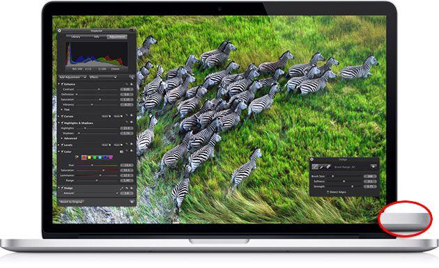 Novo Macbook Pro, sem a porta infravermelha