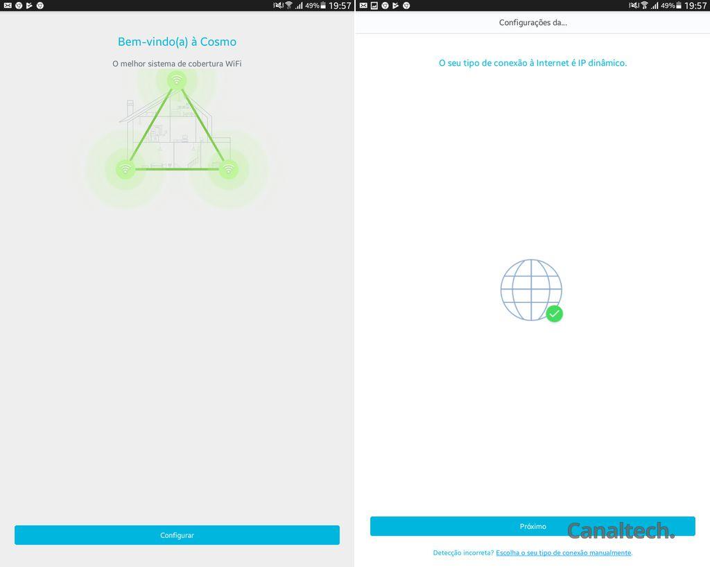 Para instalar e configurar o Cosmo, basta ligar ele à tomada, depois ao modem e acessar o app Multilaser Cosmo