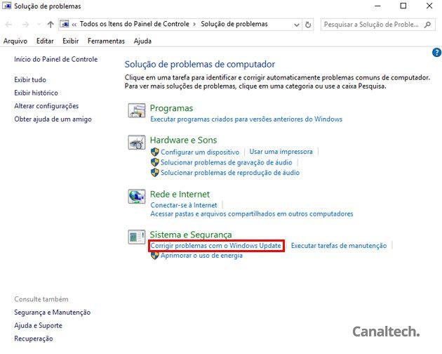 A ferramenta é capaz de identificar e corrigir problemas de vários programas e recursos do Windows, inclusive o Windows Update