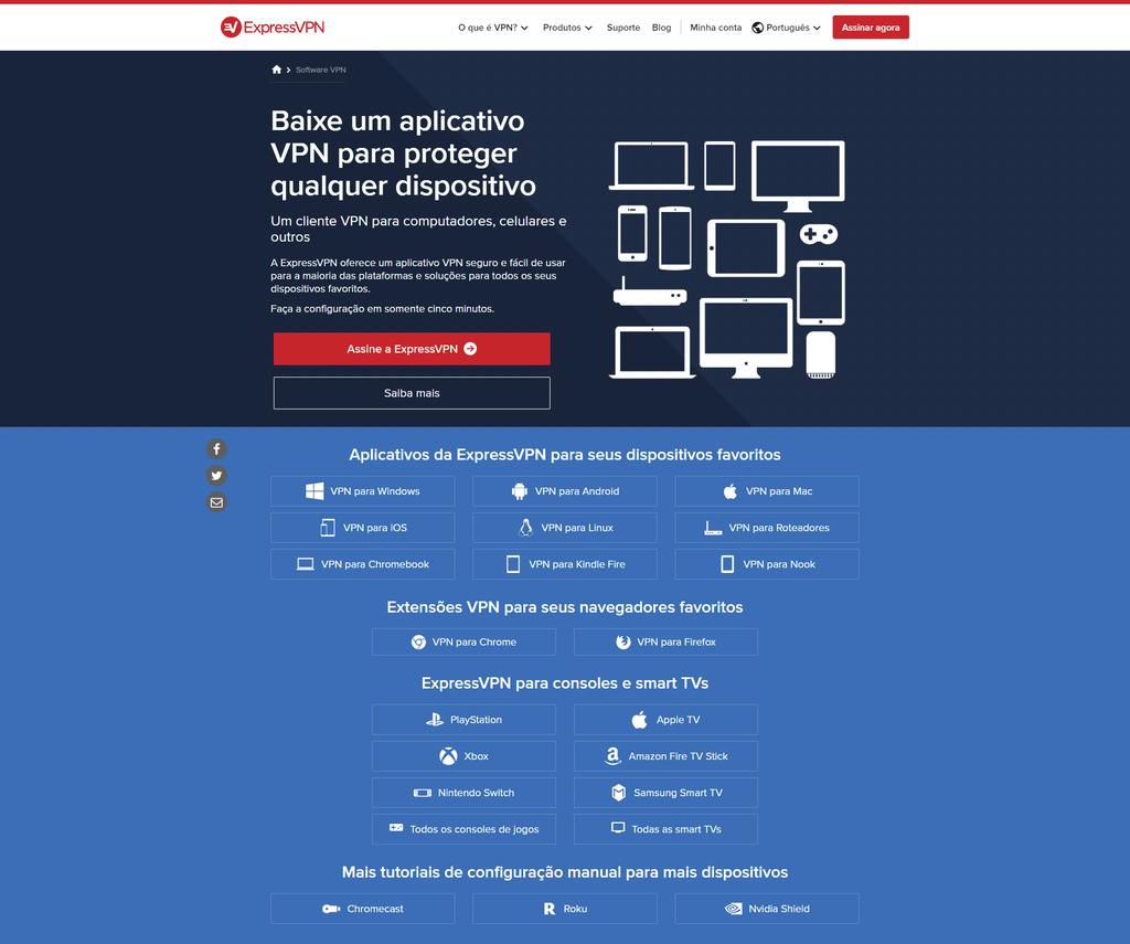 Além dos 30 dias de testes gratuitos, o ExpressVPN chama atenção pelo amplo suporte a diversas plataformas