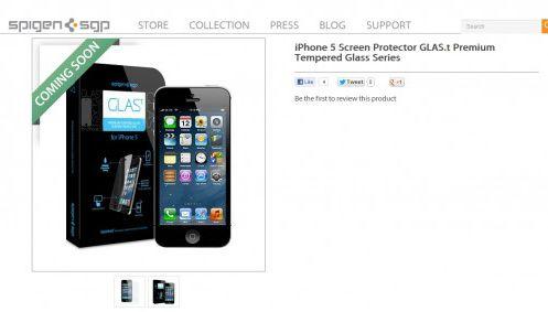Anúncio acessórios Spigen iPhone 5