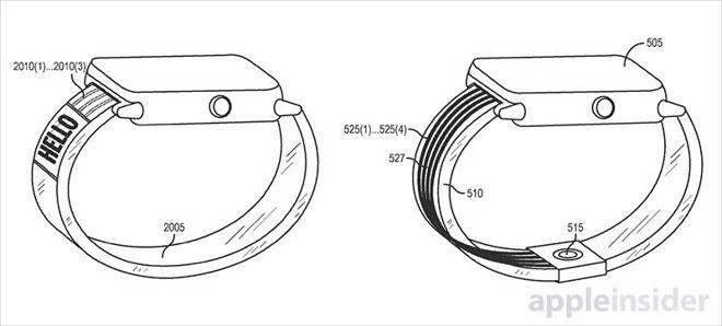 Com a adoção de fluidos ativos, Cupertino poderia transformar as pulseiras do Watch em inteligentes, com direito a display transparente e tudo