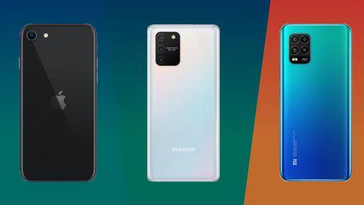 iPhone SE (2020) vs. Galaxy S10 Lite vs. Mi 10 Lite: quais são as diferenças?