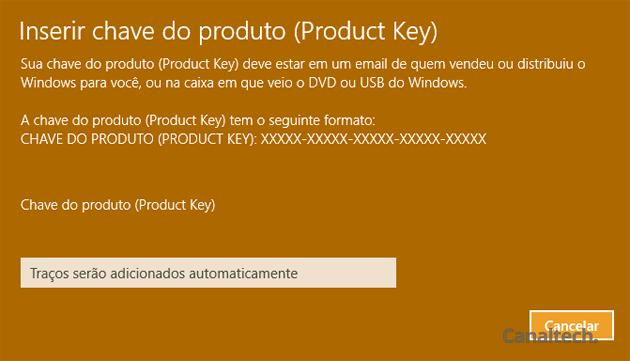 O único caso em que o usuário pode reutilizar uma chave de ativação do Windows 10 é quando ele adquire uma cópia física de varejo do sistema