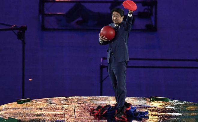 Shinzo Abe como Mario na Olimpíada