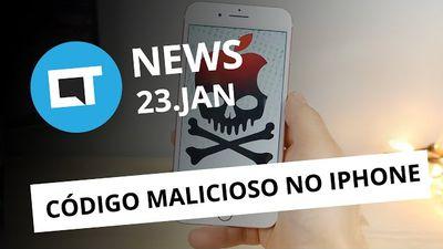Mensagem que trava iPhones; Hugo Barra deixa Xiaomi; Causa de explosões no Note7