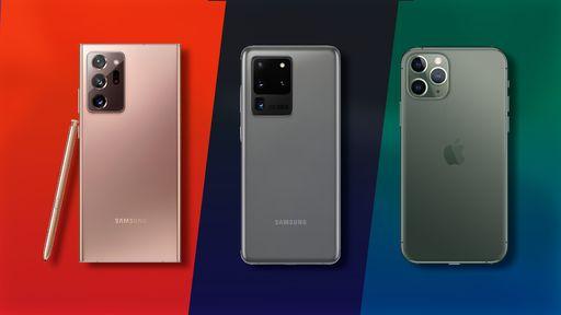 Comparativo: Galaxy Note 20 Ultra vs. Galaxy S20 Ultra vs. iPhone 11 Pro Max