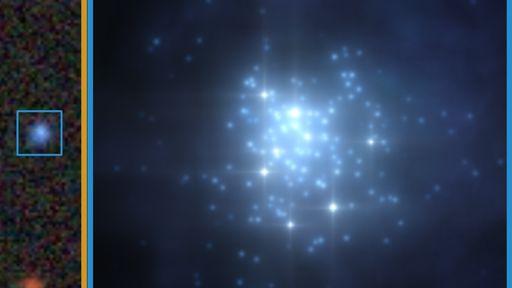 Galáxia de brilho raro é observada em seu estágio inicial de formação