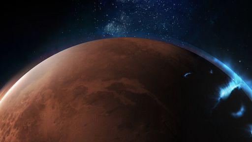 Aurora de Marte é fotografada pela sonda Hope, dos Emirados Árabes Unidos