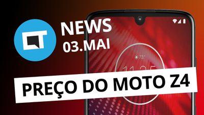 Zenfone 6 sem bordas; Preço do Moto Z4; Chuva de meteoros; e + [CT News]