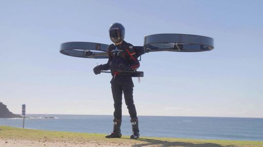 Mochila-helicóptero pode substituir jetpack tradicional em voo solo