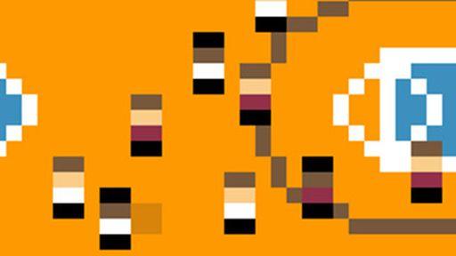 Arte minimalista com jogos do eterno NES