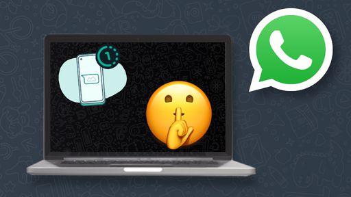 Como enviar fotos e vídeos de única visualização no WhatsApp Web