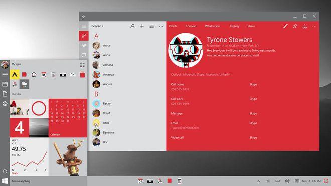 Imagem da primeira grande atualização do Windows 10, a Redstone, acabou vazando pelas mãos do designer Jeff Fong e logo repercutiu na internet. Update chegará ao novo sistema já em 2016