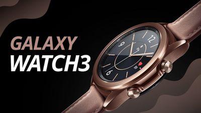 Galaxy Watch 3 com diversas funções de monitoramento de saúde