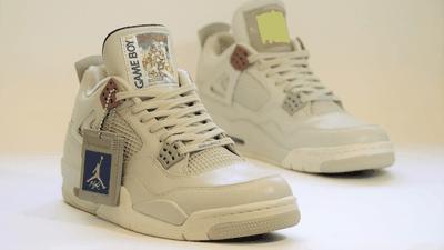 """Empresa vende tênis """"Air Jordan"""" customizado com temática Game Boy"""