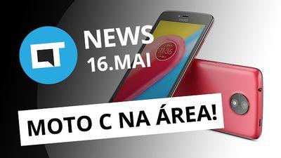 Moto C é o novo smartphone da Lenovo; Netflix pode ficar mais cara no Brasil e +