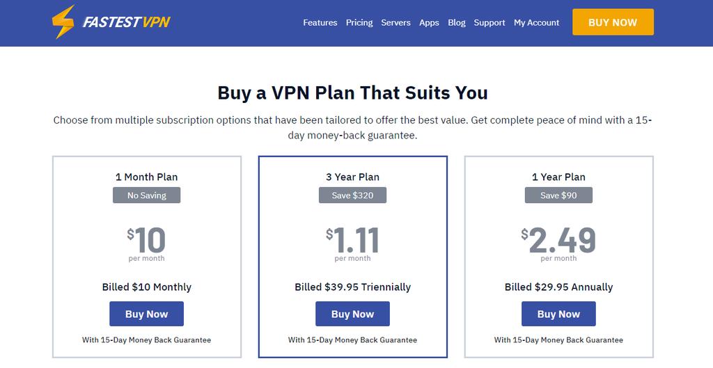 Embora possua basicamente os mesmos recursos dos demais serviços, o FastestVPN se destaca pelo preço reduzido na assinatura trienal