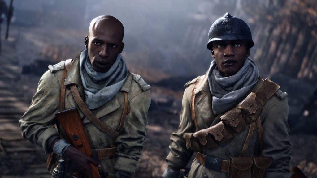 Deme (direita) é o protagonista da mais emocionante e precisa história da campanha de Battlefield V
