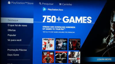 Erro faz com que banner do PlayStation Now apareça na PSN brasileira