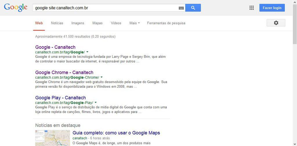 Dicas para buscar no Google