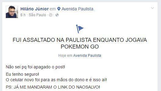 Roubo Pokémon Go