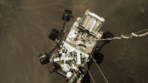 Rover Perseverance registrou vídeo e sons enquanto pousava em Marte; veja!