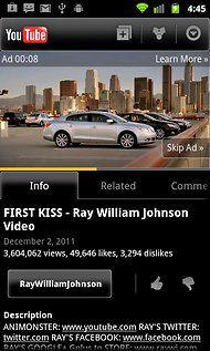 YouTube mobile anúncio