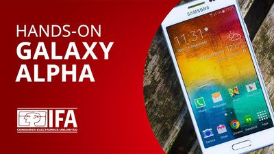 Galaxy Alpha: o smartphone da Samsung com borda de metal [Hands-on | IFA 2014]