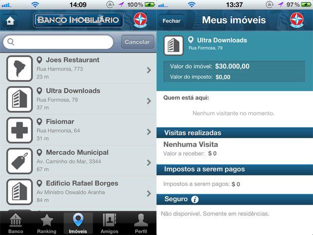 Banco Imobiliário no iOS (Imagem: Reprodução/Ultra Downloads)