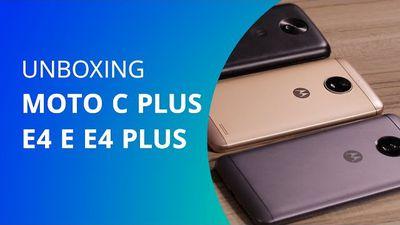 Moto C Plus, E4 e E4 Plus [Unboxing] - Canaltech