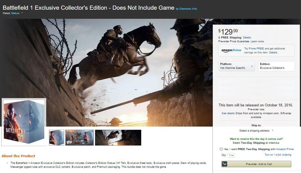 Battlefield 1 Amazon