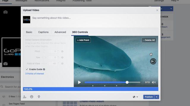 Vídeos 360 do Facebook