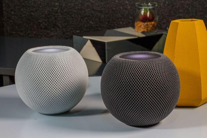 Apple Homepods Mini Cinza e Branca