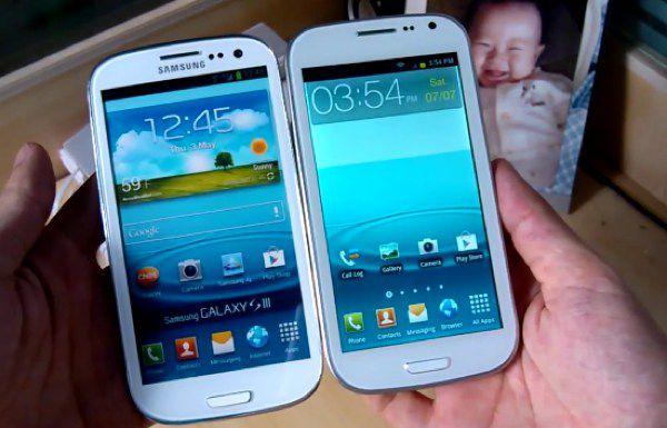 Galaxy S3 falso e verdadeiro