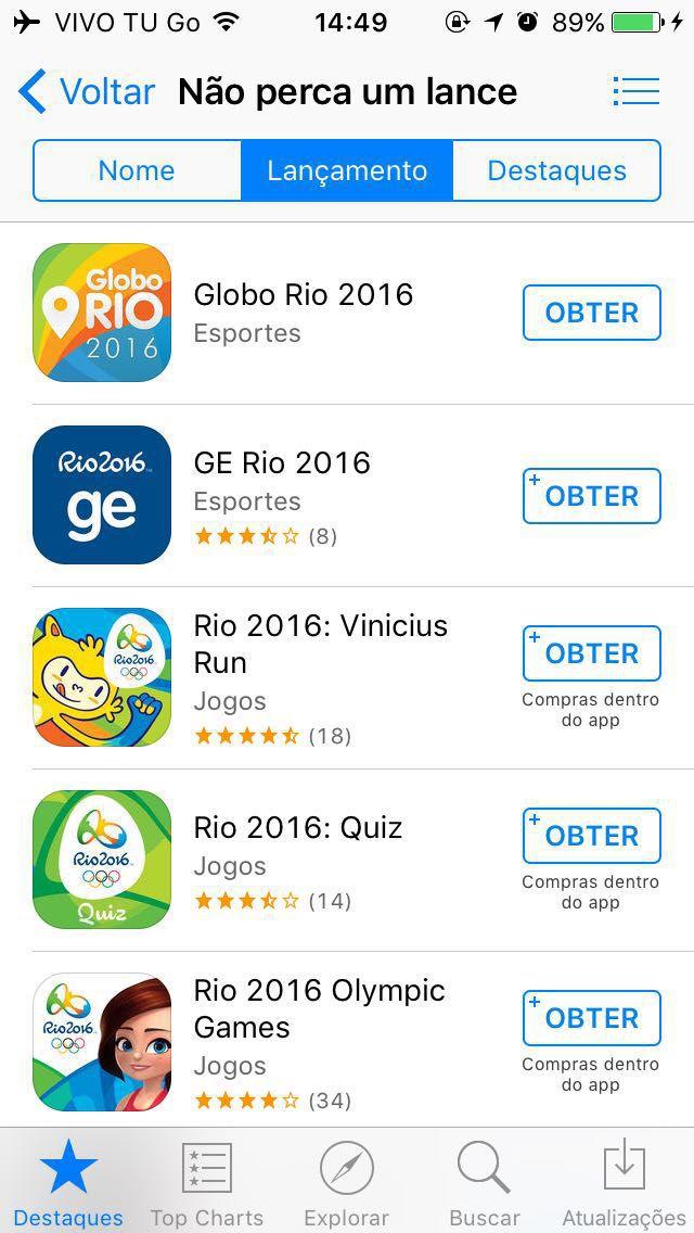 App Store Rio 2016
