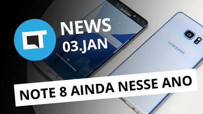 Note 8 pode ser lançado ainda este ano; notebooks gamers Lenovo e + [CTNews]
