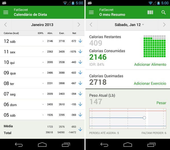 Apps para dieta e perda de peso