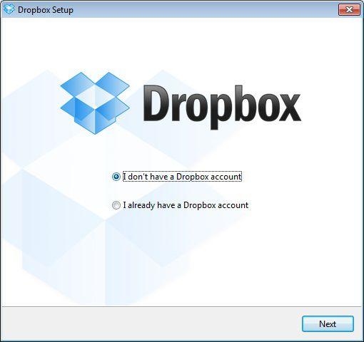Conta do Dropbox